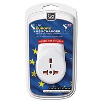 Go Travel Continental USB Adaptor