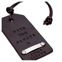 Chambers & Beau Personalised Leather Luggage Tag