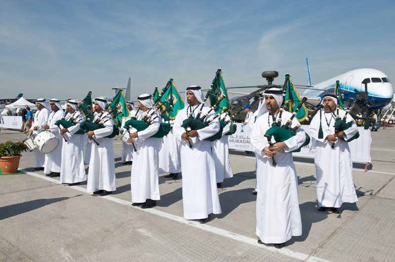 Dubai Police Band Bagpipes