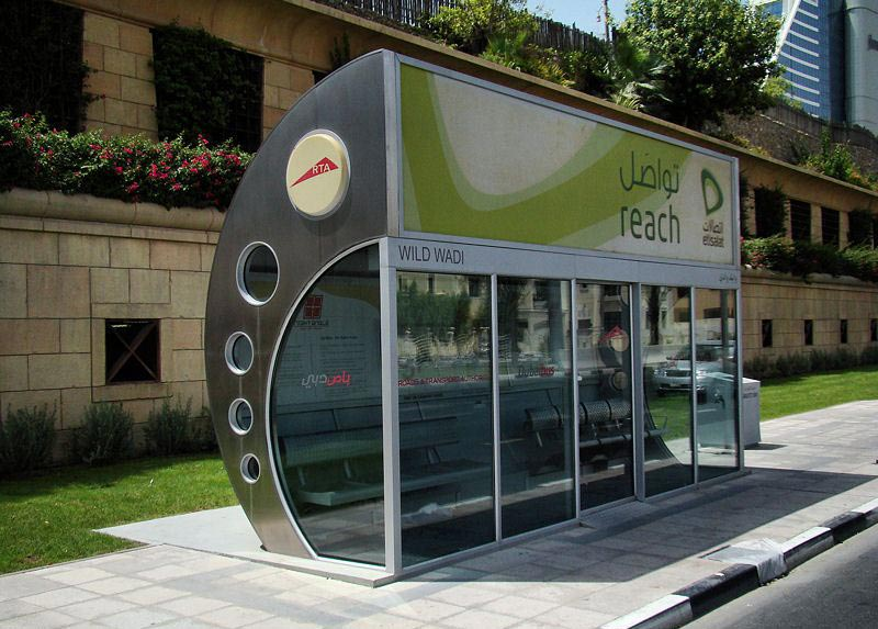 Air Conditioned Bus Stops in Dubai